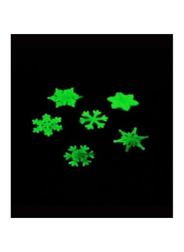 Artikel Kar Tanesi Fosforlu Duvar Sticker 5 Adet Renkli